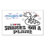 Snakes On A Plane Rectangle Sticker