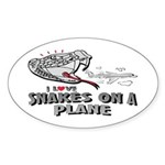 Snakes On A Plane Oval Sticker
