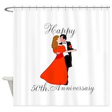 Custom Anniversary Shower Curtain