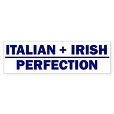 Italian + Irish Bumper Bumper Sticker