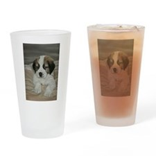 saint bernard puppy Drinking Glass