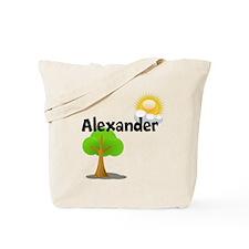 Custom Name Tree Sun Tote Bag