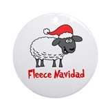 Fleece Navidad Ornament (Round)