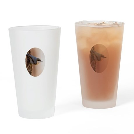 Brown-headed Nuthatch Drinking Glass