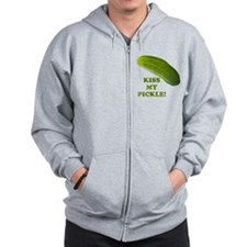 Kiss My Pickle! Zip Hoodie