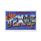 Texas Greetings Rectangle Magnet