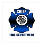 Fire Chief Square Car Magnet 3&quot; x 3&quot;