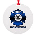 Fire Chief Round Ornament