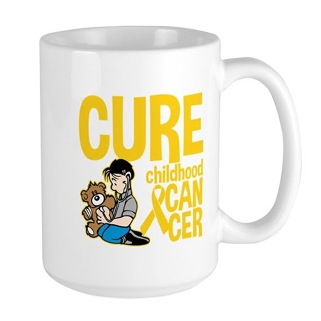 Cure Childhood Cancer Bear Large Mug