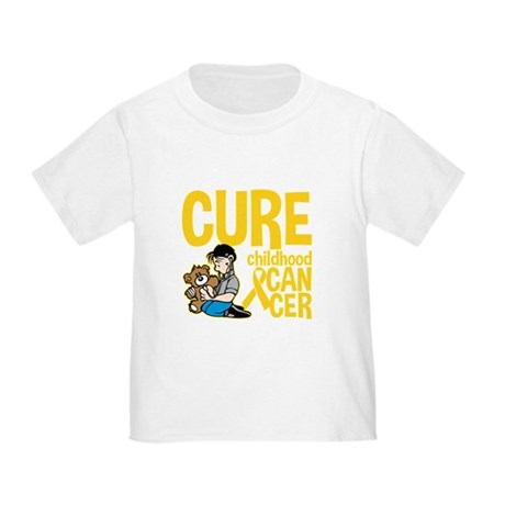 Cure Childhood Cancer Bear Toddler T-Shirt