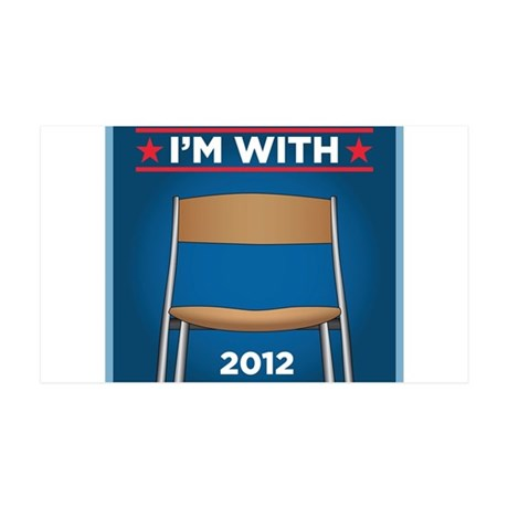 I'm with (Obama) Chair 2012! 35x21 Wall Decal
