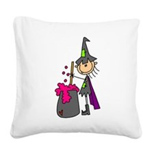 witchwithbrewstick.png Square Canvas Pillow