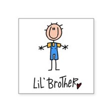 "Lil Brother Square Sticker 3"" x 3"""