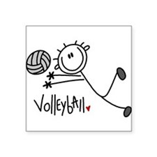 "jdvolleyballone.png Square Sticker 3"" x 3"""