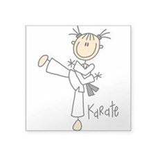 "sportkarate.png Square Sticker 3"" x 3"""
