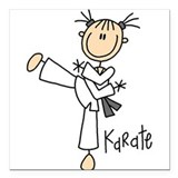 "sportkarate.png Square Car Magnet 3"" x 3"""