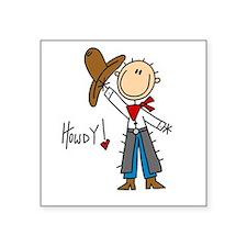 "cowboystickfour.png Square Sticker 3"" x 3"""