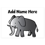 Personalized Elephant 5x7 Flat Cards