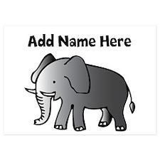 Personalized Elephant 5x7 Flat Cards