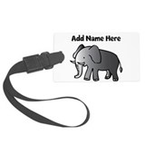 Personalized Elephant Large Luggage Tag