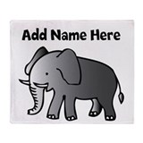 Personalized Elephant Throw Blanket