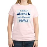 Love My Dogs Women's Pink T-Shirt