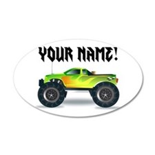 Personalized Monster Truck Wall Decal