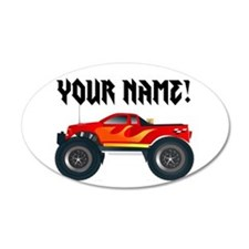 Red Monster Truck Personalized Wall Decal