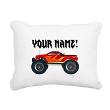 Red Monster Truck Personalized Rectangular Canvas