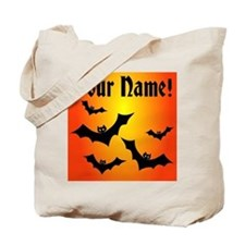 Personalized Bats Trick or Treat Tote Bag
