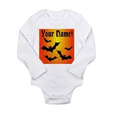 Personalized Halloween Bats Long Sleeve Infant Bod