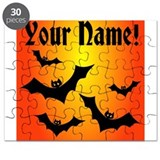 Personalized Halloween Bats Puzzle