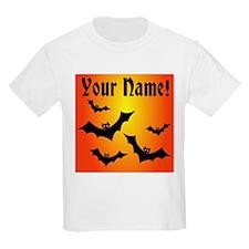 Personalized Halloween Bats T-Shirt