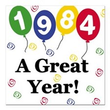 """1984YEAR.png Square Car Magnet 3"""" x 3"""""""