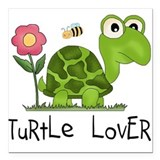 "turtleloverr.png Square Car Magnet 3"" x 3"""