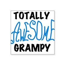 "AWESOMEBLUGRAMPY.png Square Sticker 3"" x 3"""