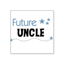 "futureuncleblueimag.png Square Sticker 3"" x 3"""