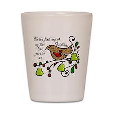 Partridge in a pear tree Shot Glass