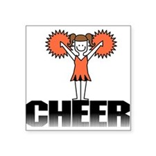 "CHEERORANGE.png Square Sticker 3"" x 3"""