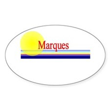 Marques Oval Decal