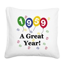 1959birthdayballoon.png Square Canvas Pillow