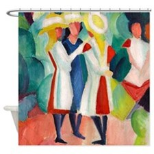 Macke - Yellow Hats Shower Curtain