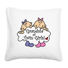 grandmatwingirlsimget.png Square Canvas Pillow