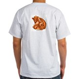 Orange Dray Ash Grey T-Shirt