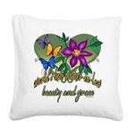 Butterflymotherinlaw.png Square Canvas Pillow