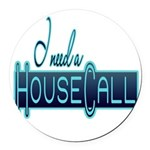 10x10_apparel housecall black.png Round Car Magnet
