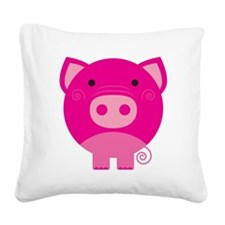 NEPINKPIGG.png Square Canvas Pillow