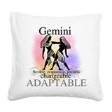 HOROSCOPEGEMINI.png Square Canvas Pillow