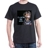 Doberman Pinscher Smiles Black T-Shirt