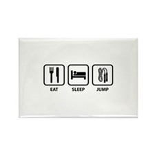 Eat Sleep Jump Rectangle Magnet (100 pack)